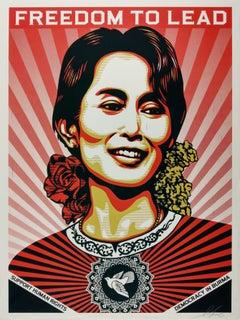 Freedom to Lead - Daw Aung San Suu Kyi - Shepard Fairey Obey Contemporary Print