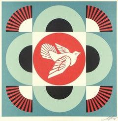 Geometric Dove - Blue
