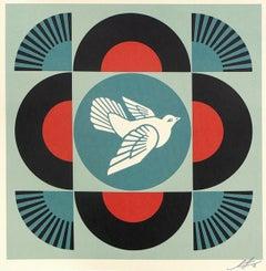 Geometric Dove - Red