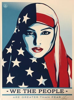 """Greater Than Fear""  Shepard Fairey Contemporary & Urban Art 2017 Artist Proof"
