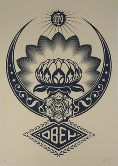 Harmony : The Lotus Flower - Tall original screenprint signed & numbered /89