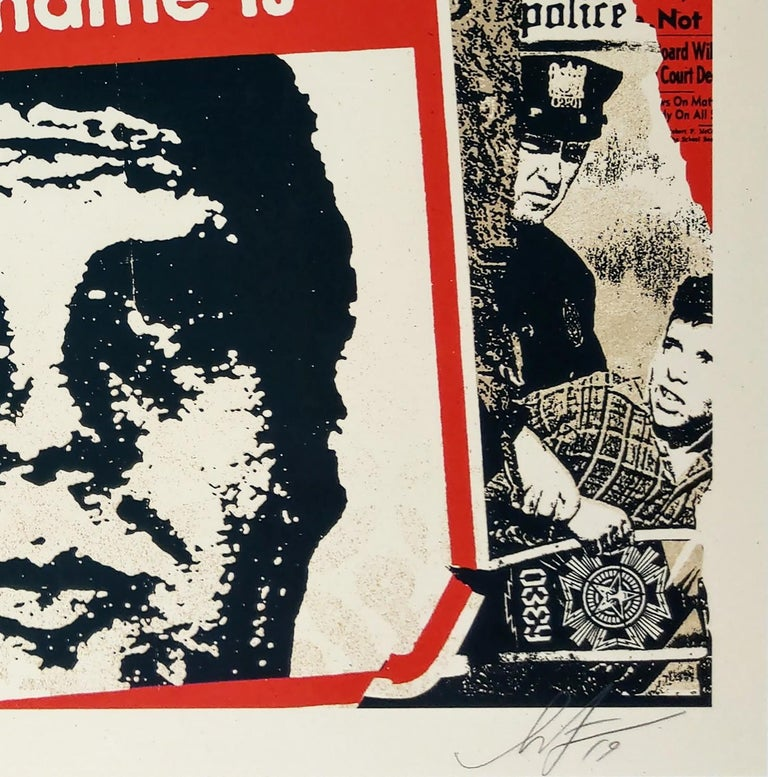 Hello My Name Is - Shepard Fairey Obey Contemporary Print For Sale 1