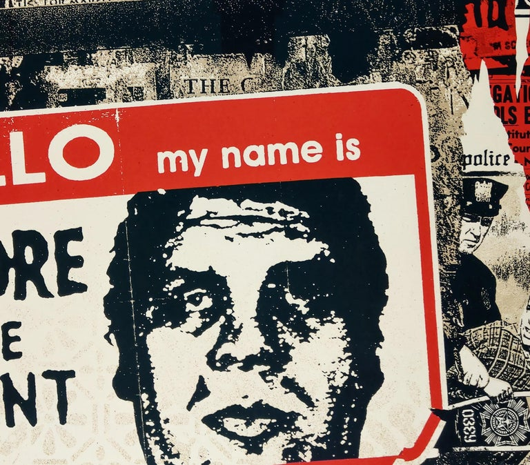 Hello My Name Is - Shepard Fairey Obey Contemporary Print For Sale 2