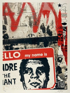 Hello My Name Is - Shepard Fairey Obey Contemporary Print