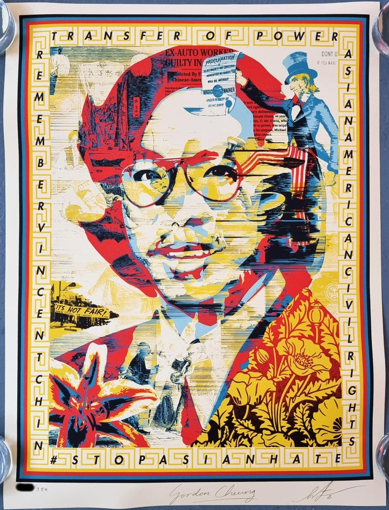 In Honor of Vincent Jen Chin - Contemporary Print by Shepard Fairey