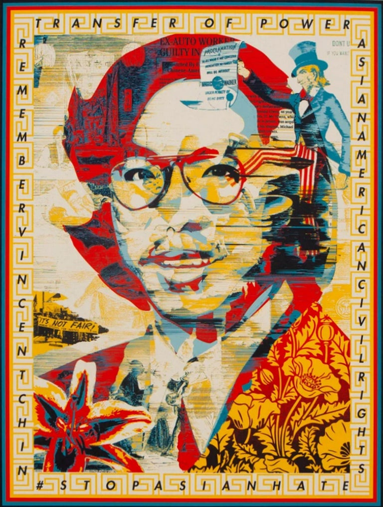 In Honor of Vincent Jen Chin - Print by Shepard Fairey