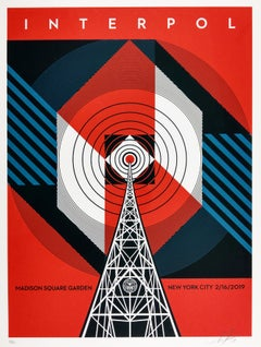 Interpol NYC Calling - Shepard Fairey Obey Contemporary Print