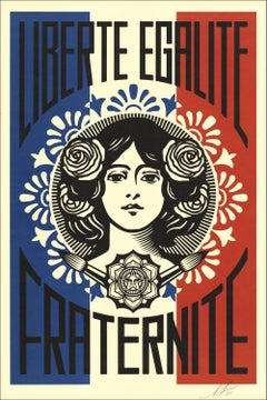 Liberté Egalité Fraternité France - Screenprint Handsigned