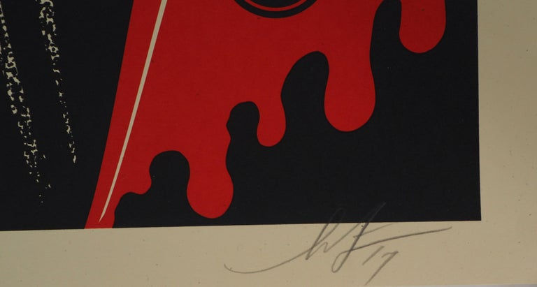Misfits, For Decades in Horror Business - Handsigned and Numbered Print - Black Figurative Print by Shepard Fairey