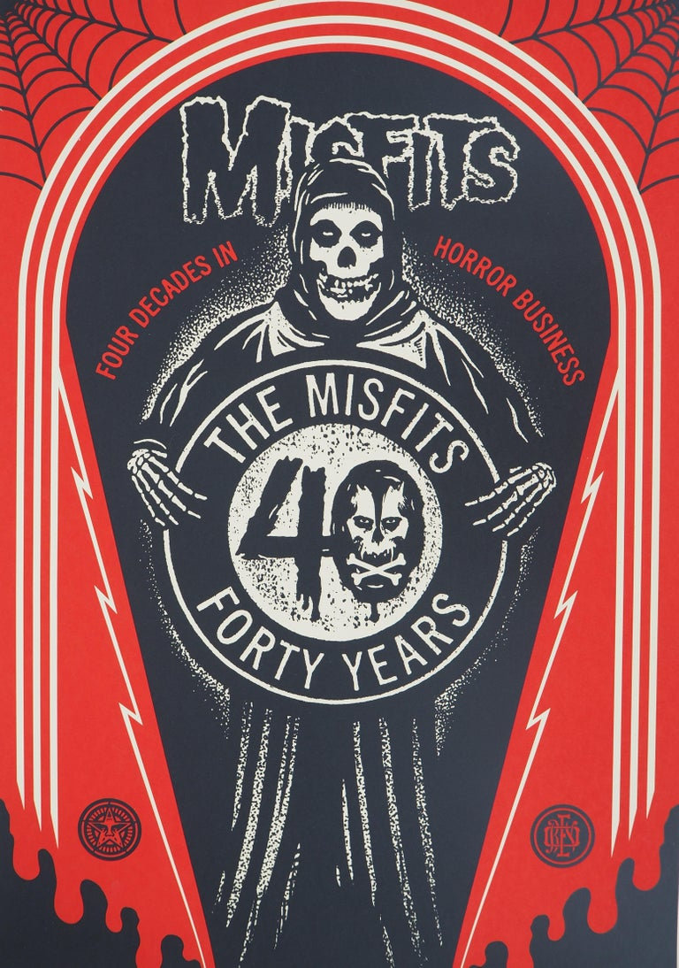 Misfits, For Decades in Horror Business - Handsigned and Numbered Print For Sale 1