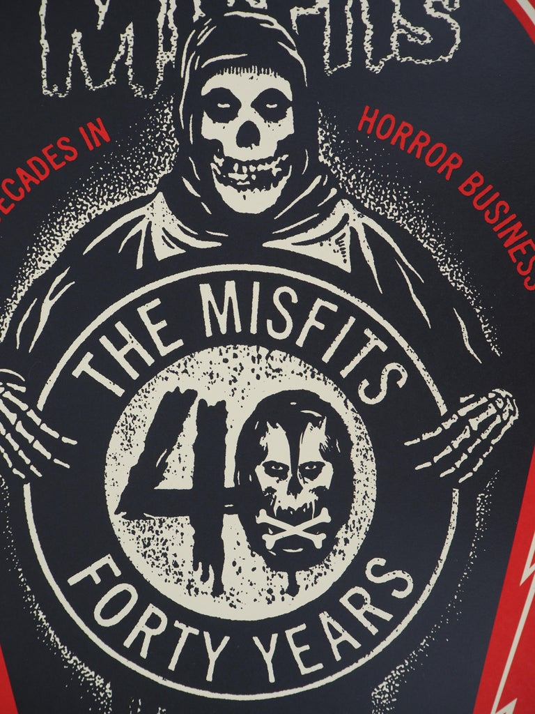 Misfits, For Decades in Horror Business - Handsigned and Numbered Print For Sale 3