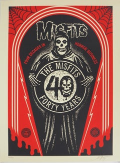 Misfits, For Decades in Horror Business - Handsigned and Numbered Print