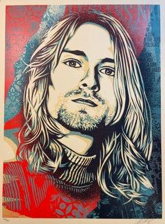 Nirvana Kurt Cobain Endless Nameless Obey Giant Signed Print Shepard Fairey Rock