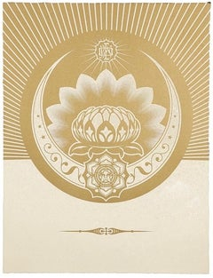 Obey Lotus Crescent (White / Gold)