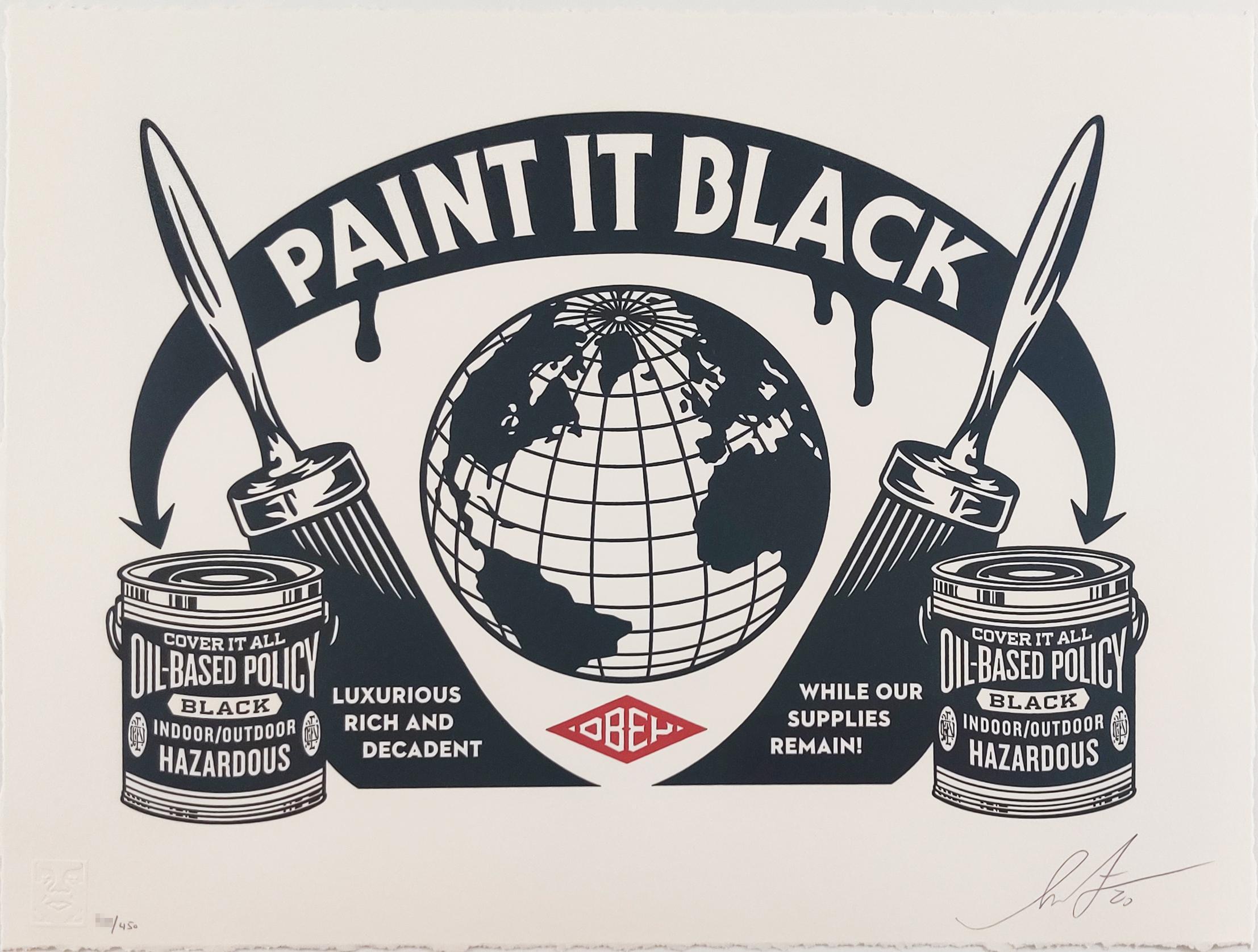 Paint It Black, Shepard Fairey, Obey, Activism Street Art Letterpress