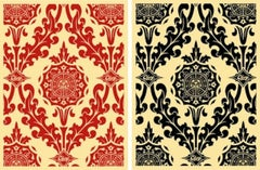 Parlor Pattern Cream and Red/Cream and Black