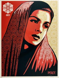 Peace Mujer, 2007 - Shepard Fairey Contemporary Street Art Print