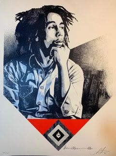 Shepard Fairey Bob Marley X Shepard Fairey Print To Catch A Fire Dennis Morris