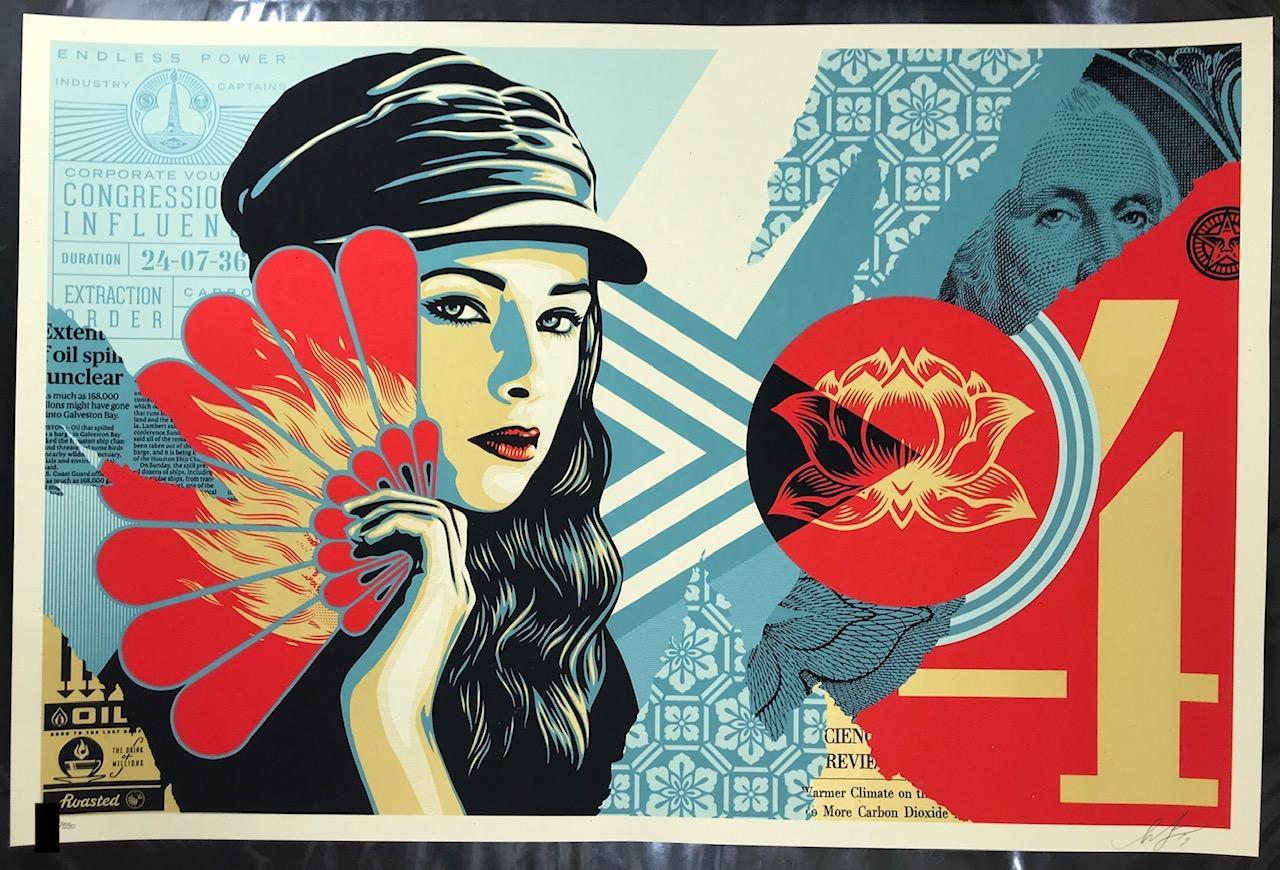 Shepard Fairey Fan The Flames Print Obey Giant Poster 2019 Street Art