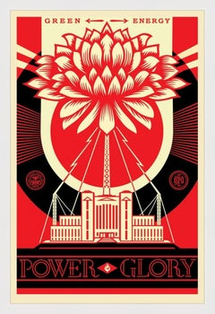 SHEPARD FAIREY  GREEN POWER  SIGNED AND DATED