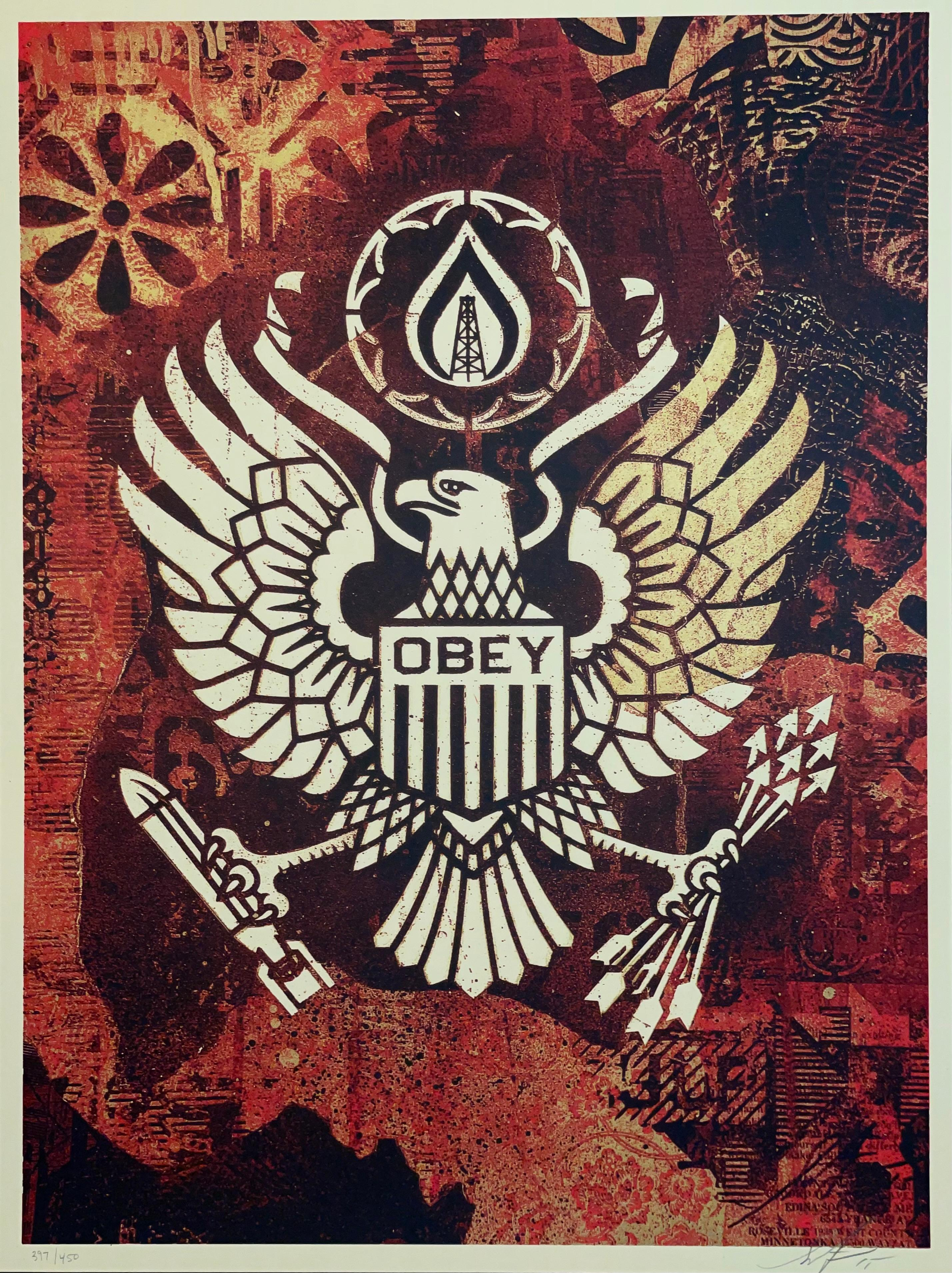 Shepard Fairey Keep It Underground Screen Print 2015 Contemporary Street Art