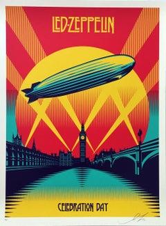 Shepard Fairey Led Zeppelin screen-print