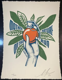 Shepard Fairey Mother Nature on the Run Neil Young Tour Print Letterpress