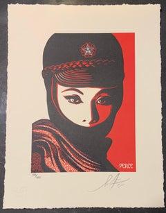 Shepard Fairey Mujer Fatal Letterpress Print Obey Giant Chop Peace Woman
