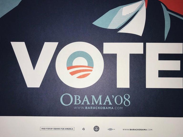 Shepard Fairey Obama Vote 2008 Campaign Print Artist's For Obama Political Art 1