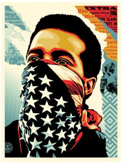 Shepard Fairey - Obey Giant - American Rage Offset Lithograph -Urban Street Art