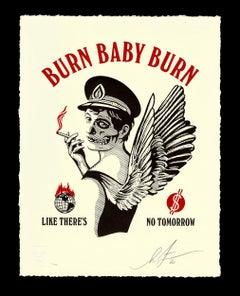 Shepard Fairey - Obey Giant - Burn Baby Burn  -  Urban Graffiti Street Art
