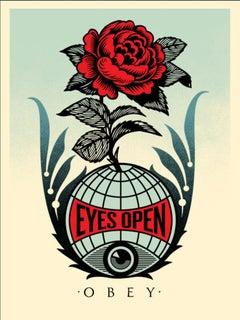 Shepard Fairey - Obey Giant - Eyes Open - Urban Graffiti Street Art