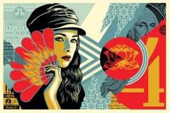 Shepard Fairey - Obey Giant - Fan The Flames - Urban Graffiti Street Art