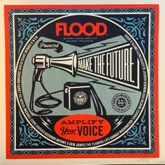 Shepard Fairey Obey Giant Flood Magazine Print Music Amplify Your Voice Politic