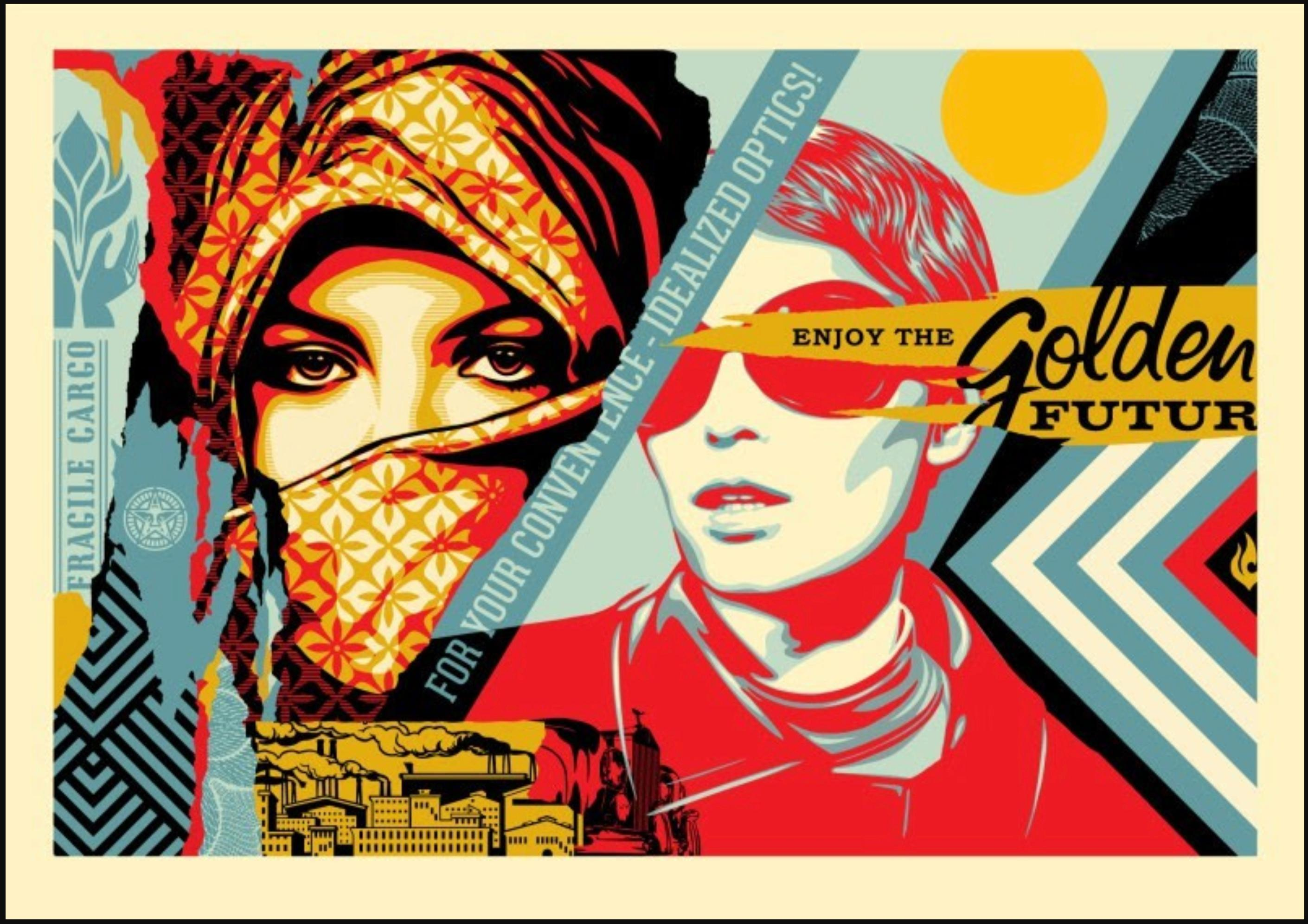 Shepard Fairey - Obey Giant - Golden Future - Urban Graffiti Street Art Print