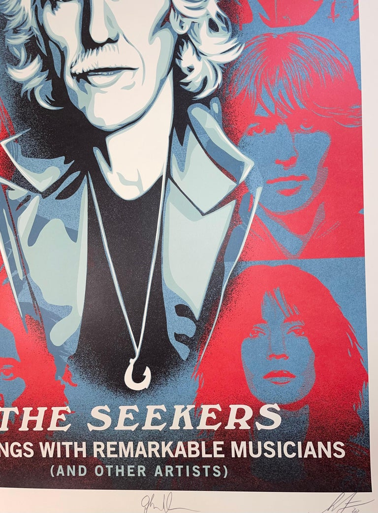 Shepard Fairey Obey Giant John Densmore: The Seekers The Doors Street Art Contemporary , 2020 Silkscreen On Creme Fine Art Speckletone Paper 36 × 24 in 91.4 × 61 cm Edition of 1000  I was very happy that John Densmore, drummer of The Doors, asked me
