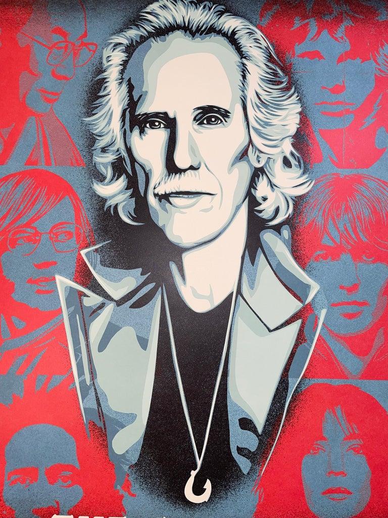 Shepard Fairey Obey Giant John Densmore: The Seekers The Doors Street Art Music  For Sale 1