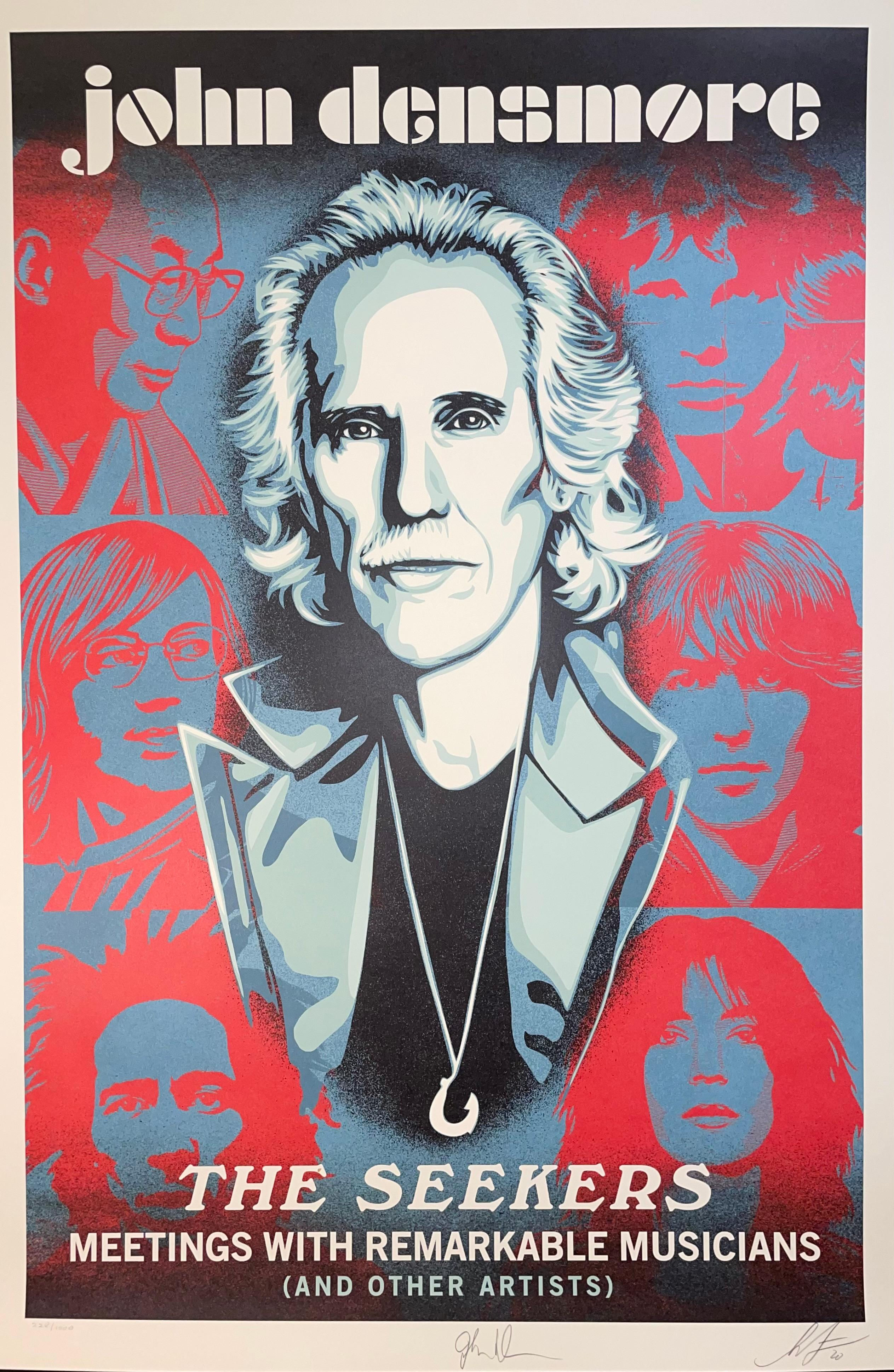 Shepard Fairey Obey Giant John Densmore: The Seekers The Doors Street Art Music