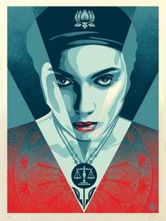 Shepard Fairey - Obey Giant - Justice Women: Blue -  Urban Graffiti Street Art