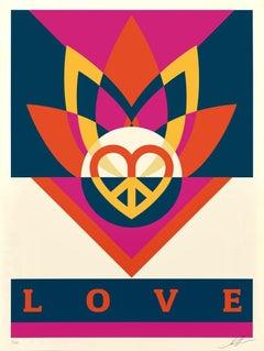 Shepard Fairey - Obey Giant - Love Lotus- Urban Graffiti Street Art
