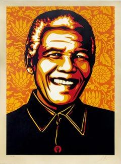 Shepard Fairey - Obey Giant - Mandela - Orange -  Urban Graffiti Street Art