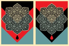 Shepard Fairey - Obey Giant - Oil Drop & Blood Drop Mandala