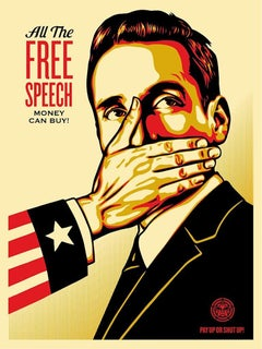Shepard Fairey - Obey Giant - Pay Up or Shut Up - Urban Graffiti Street Art