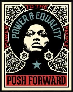 Shepard Fairey Obey Giant Push Forward Letterpress Print Black Life's Matter Pop
