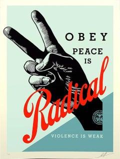 Shepard Fairey - Obey Giant - Radical Peace - Blue Edition -Urban Street Art