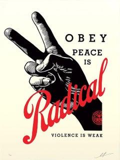 Shepard Fairey - Obey Giant - Radical Peace - Cream Edition -Urban Street Art