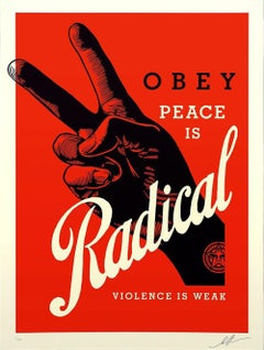 Shepard Fairey - Obey Giant - Radical Peace - Red Edition -Urban Street Art