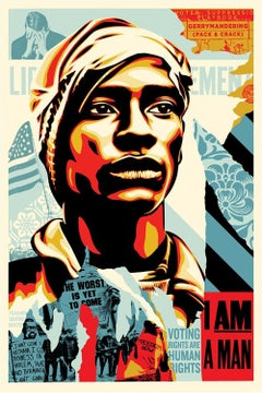 Shepard Fairey - Obey Giant -Voting Rights Are Human Rights - Offset Lithograph