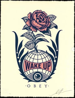 Shepard Fairey - Obey Giant - Wake Up Earth  - Urban Graffiti Street Art