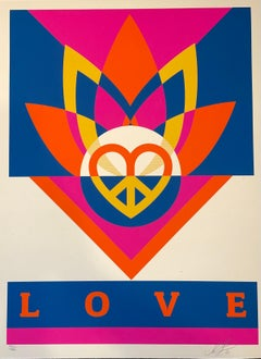 Shepard Fairey Obey Love Lotus Screen Print Signed & Numbered Contemporary Art